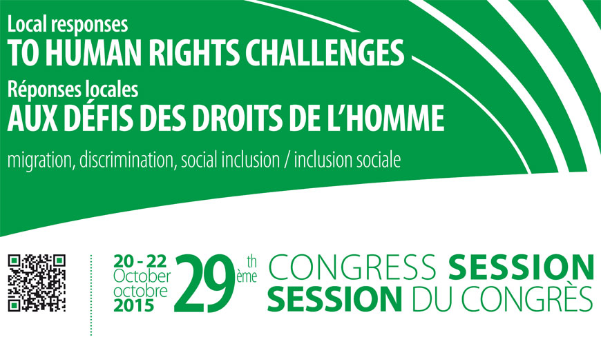 29th Session of the Congress to focus on combating radicalisation, refugees and migrants, youth participation and local and regional democracy in Europe