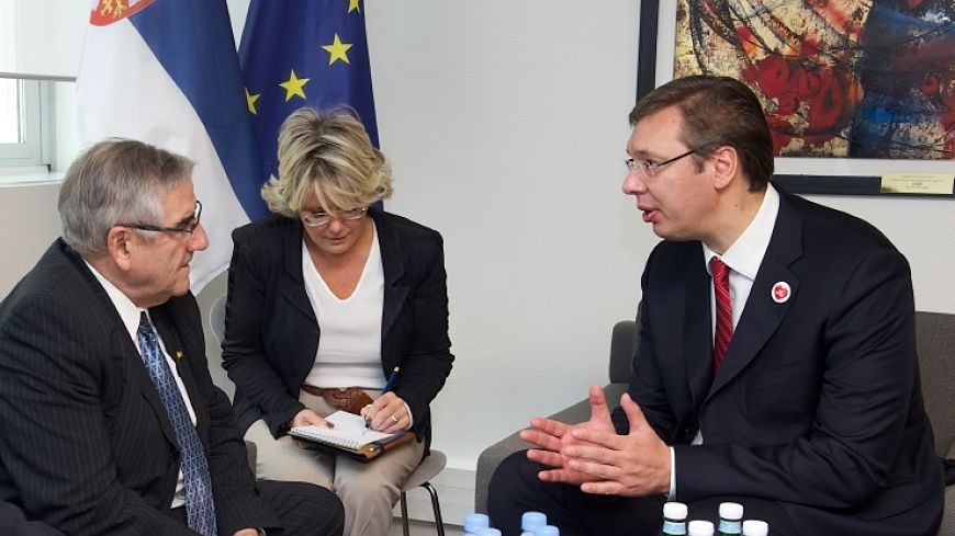Congress President Jean-Claude Frécon meets Prime Minister of Serbia