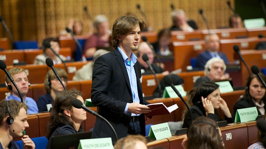 Youth delegates participate in the 29th Session of the Congress