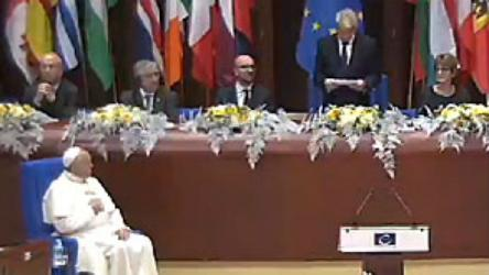 Pope Francis visits and addresses the Council of Europe