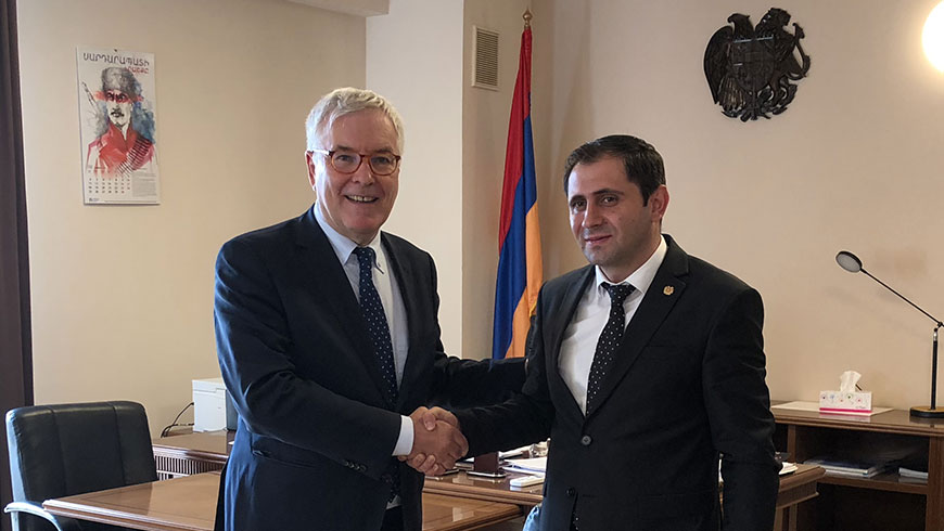 Congress Director meets new Armenian Minister of Territorial Administration and Development