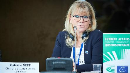 Gabriele NEFF, re-elected President of the Current Affairs Committee