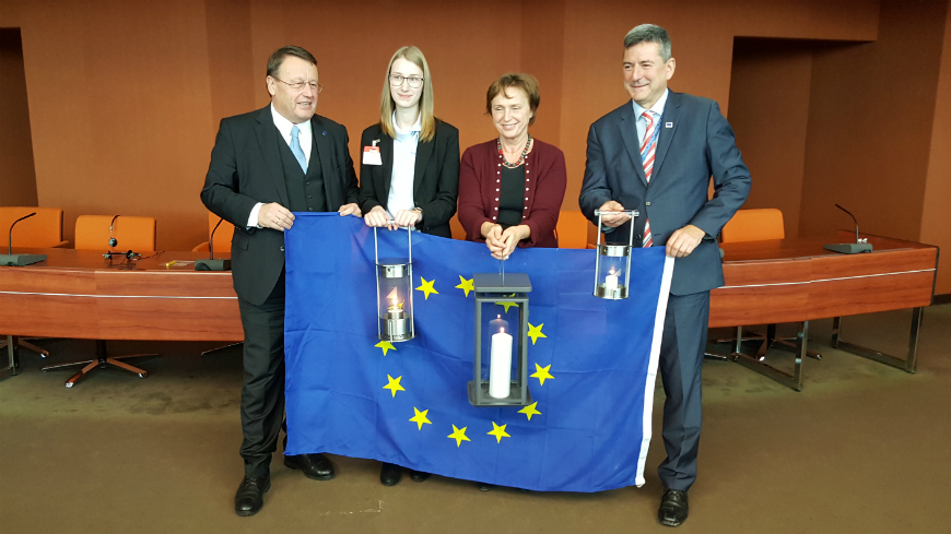 """Peace light"" ceremony at the Council of Europe"