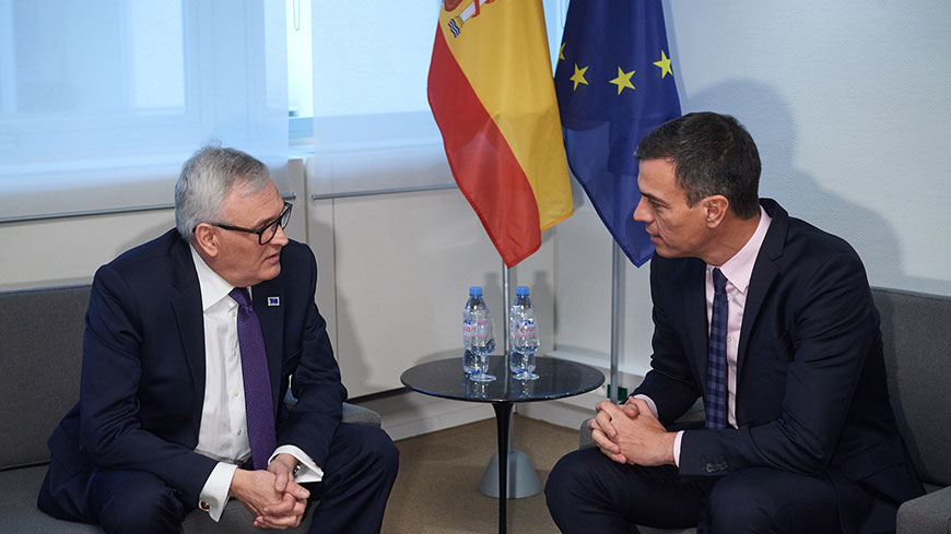 Bilateral meeting of the Congress President with the Prime Minister of Spain