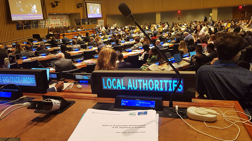 Implementation of the SDGs: strengthening local and regional democracy, social inclusion and institutional partnerships