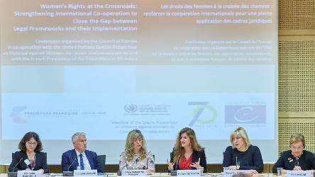 "Conference ""Women's rights at the crossroads"" on the improvement of international co-operation to end violence against women"