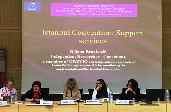 Mapping support services for victims of violence against women in line with the Istanbul Convention standards