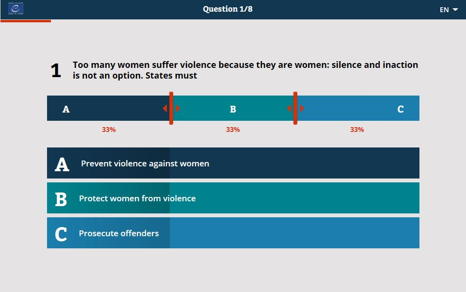 Too many women suffer violence because they are women: silence and inaction is not an option.