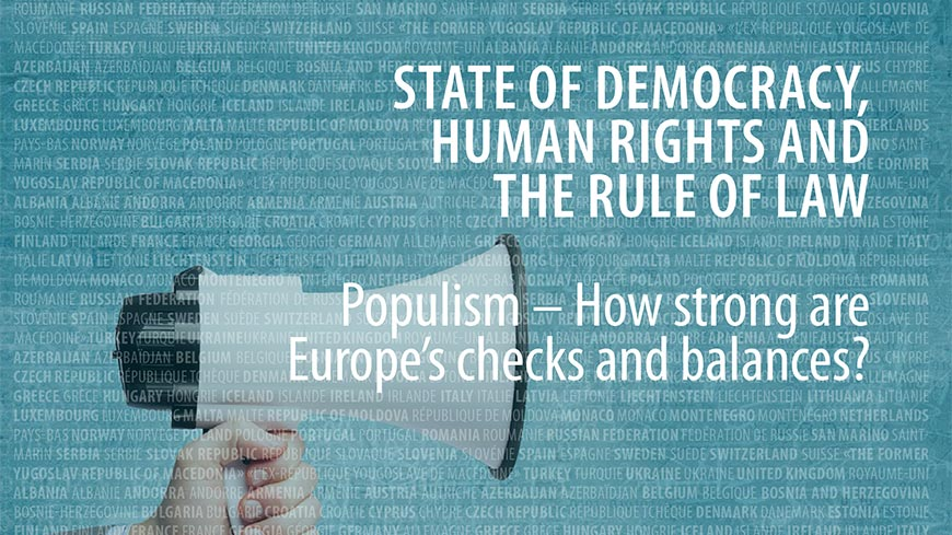 Secretary General's Annual Report on State of Democracy, Human Rights and the Rule of Law in Europe - Now released