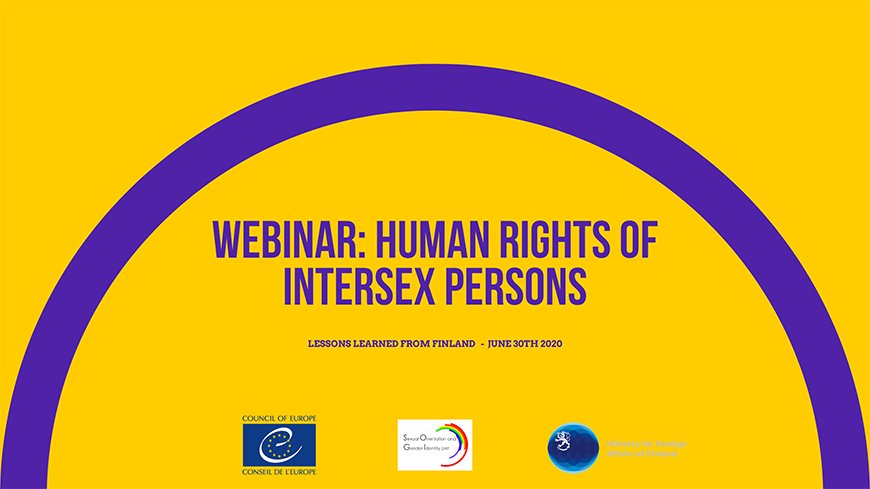 UPCOMING WEBINAR: How to advance the Human Rights of Intersex Persons? Lessons learned from Finland
