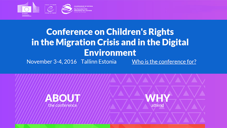 Conference on Children's Rights in the Migration Crisis and in the Digital Environment