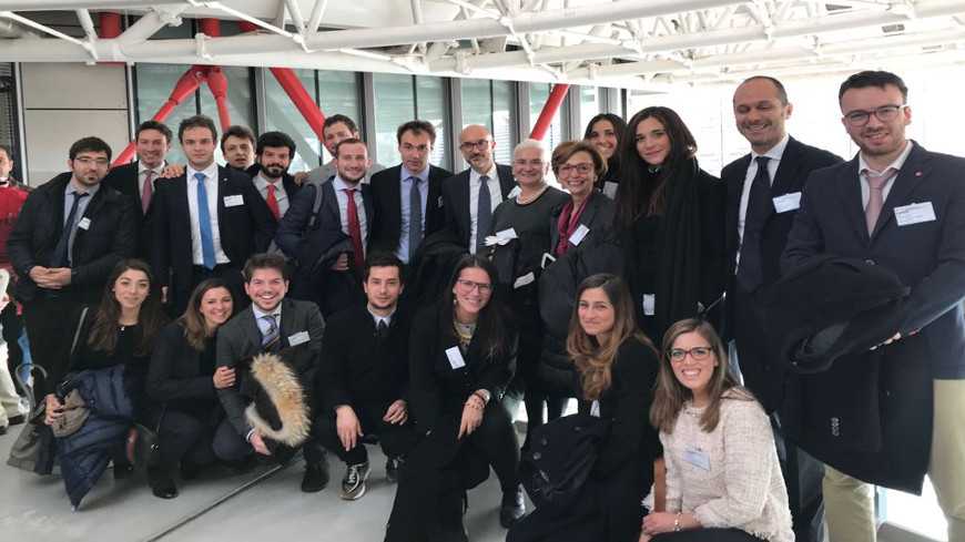 Ca' Foscari students attend a hearing of the Strasbourg Court