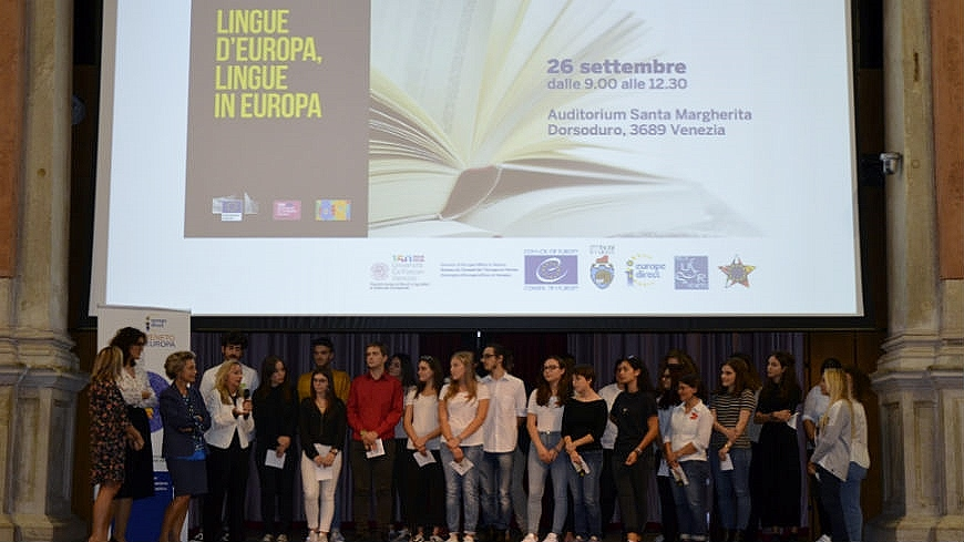 Veneto students celebrate the European Day of Languages 2018