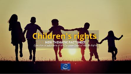 Children's rights - New thematic factsheet