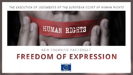 New thematic factsheet - execution of ECHR judgments concerning freedom of expression