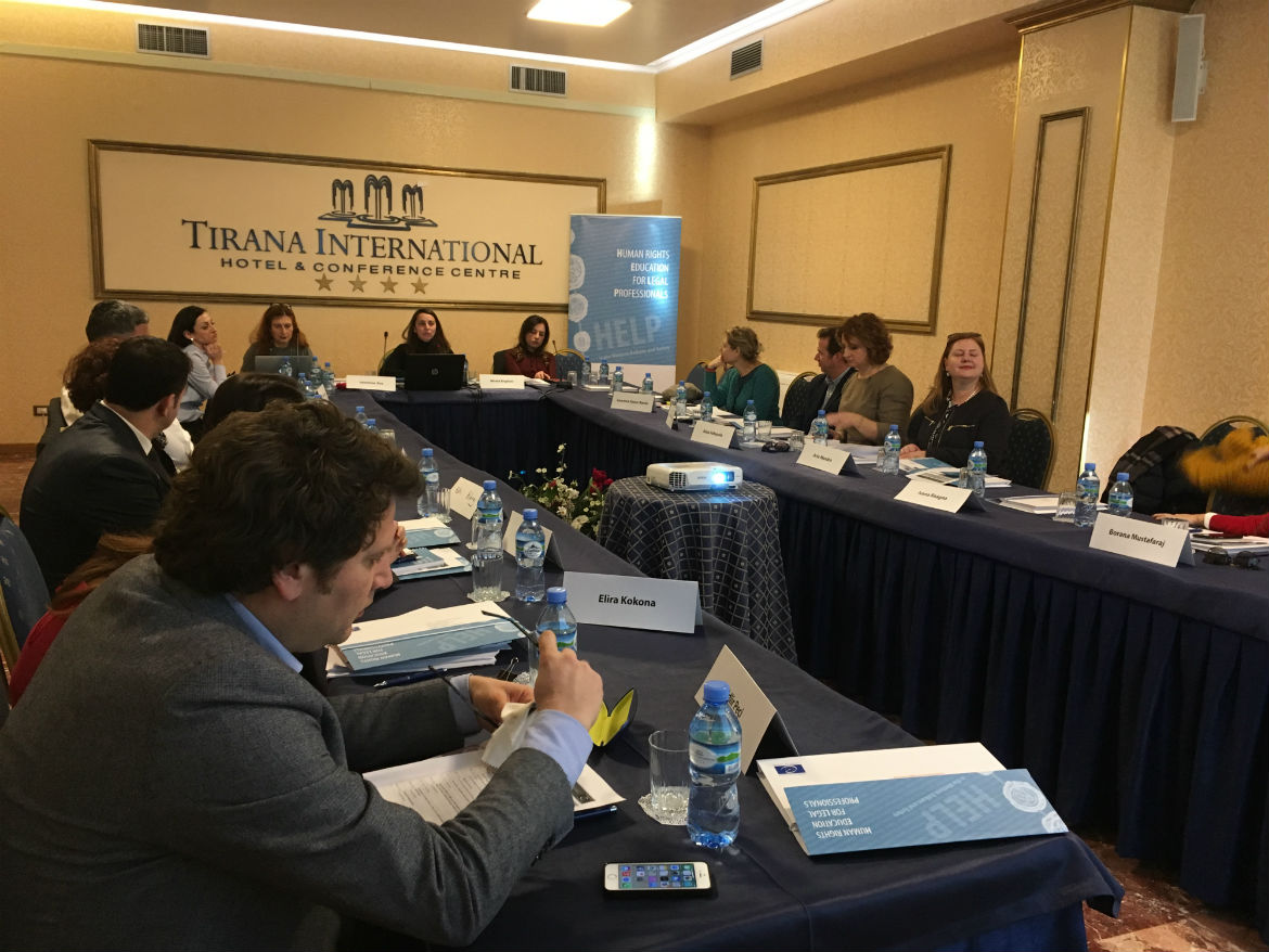 Supporting the Albanian School of Magistrates in the field of training on human rights: HELP Training-of-Trainers session