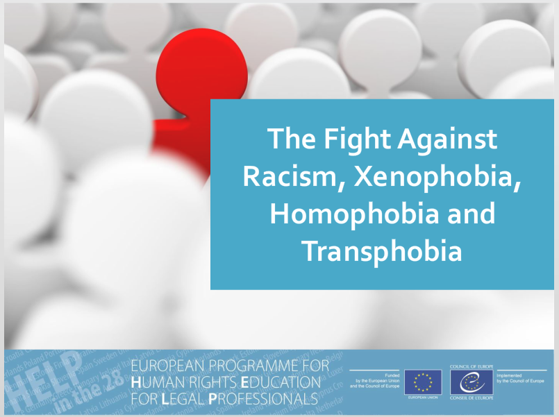 Free online HELP course on Fight against racism, xenophobia and homophobia/transphobia