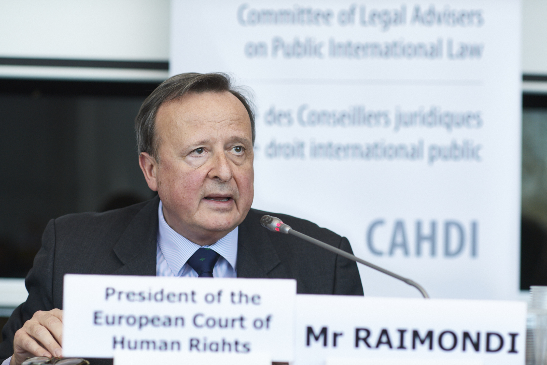 Presentation of Mr Guido Raimondi, President of the European Court of Human Rights, during the 53rd meeting of the CAHDI