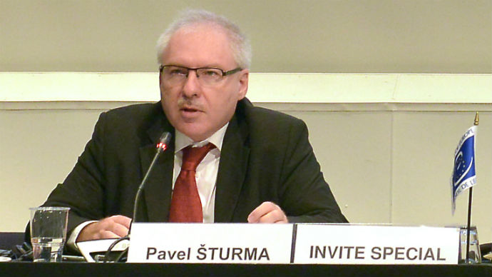 Presentation of Mr Pavel Šturma, Vice-Chair of the International Law Commission (ILC), during the 56th meeting of the CAHDI