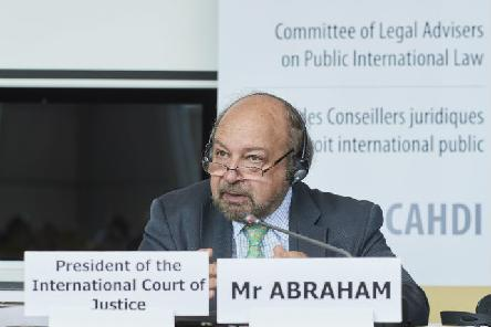 Presentation of Mr Ronny Abraham, President of the International Court of Justice, during the 53rd meeting of the CAHDI