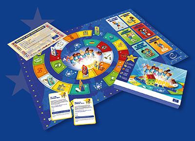 Carte De Leurope Jeux Educatifs.Un Grand Jeu Educatif L Europe Des Valeurs