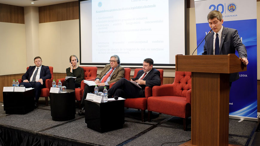 "National Conference ""Financing of Political Parties in Moldova: Lessons Learned in the Eastern Partnership"""