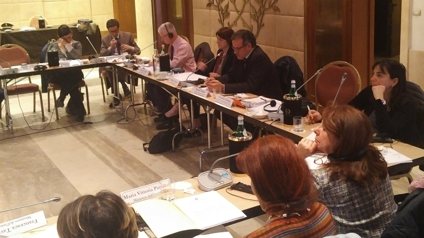 Round-table meeting in Italy