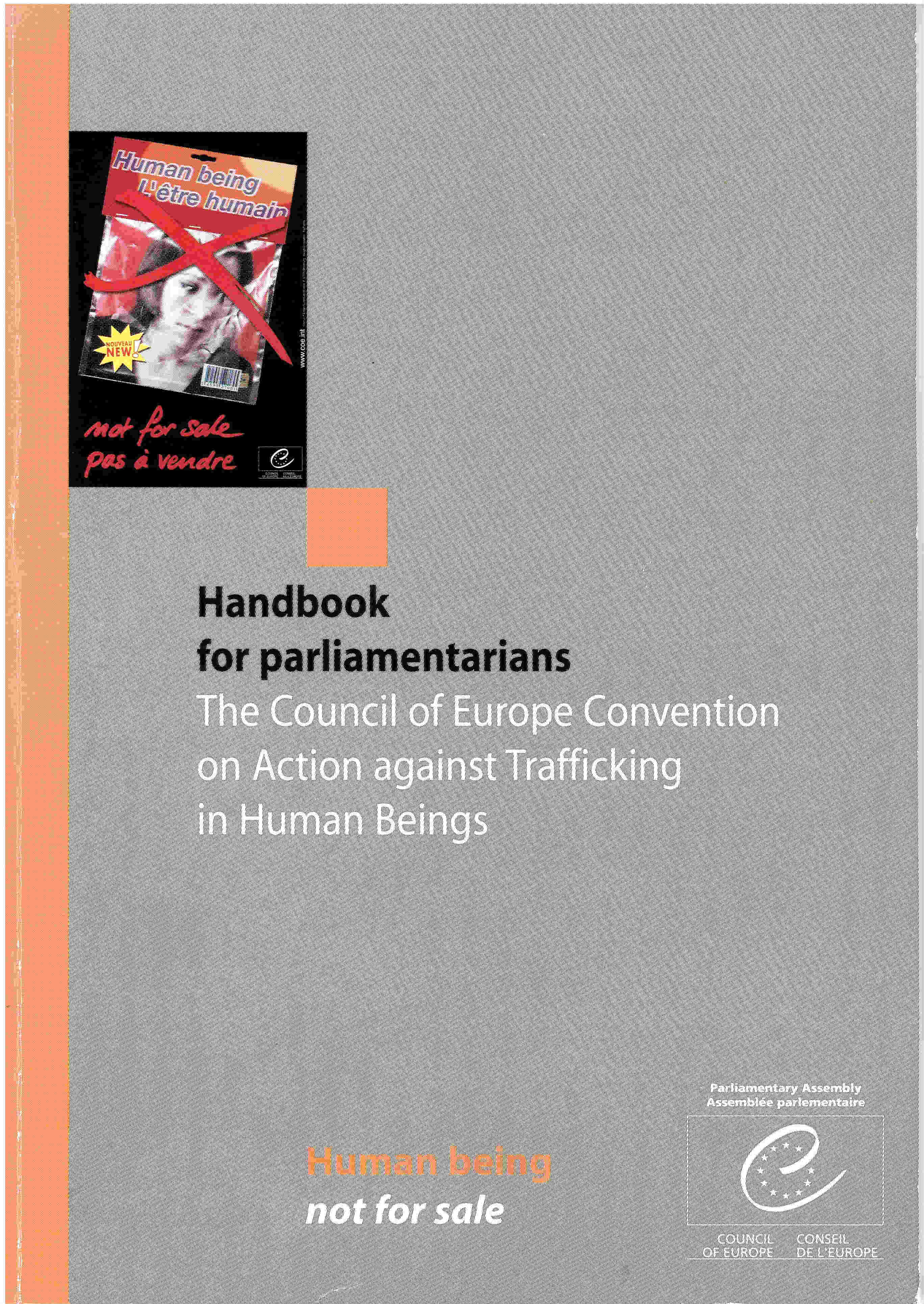 Handbook for parliamentarians - The Council of Europe Convention on Action against Trafficking in Human Beings