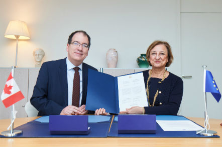 Canada deposits instrument of accession to Eurimages to  Deputy Secretary General of the Council of Europe