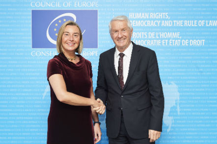 Secretary General meets with Ms Federica Mogherini, High Representative of the European Union for Foreign Affairs and Security Policy, Vice-President of the European Commission