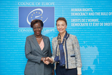 Secretary General meets with Ms Louise Mushikiwabo, Secretary General of International Organisation of La Francophonie