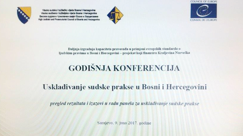 Harmonisation of judicial practice in Bosnia and Herzegovina - Preliminary results of the panels for harmonisation of court practice