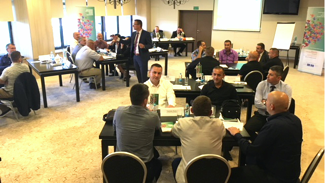 LAW ENFORCEMENT OFFICERS TRAIN TO IMPROVE HUMAN RIGHTS RECORD IN BOSNIA AND HERZEGOVINA