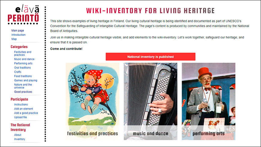 Wiki-inventory for Living Heritage