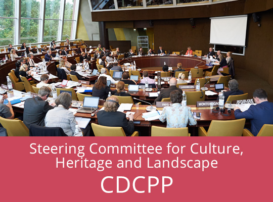 Illustration about the Steering Committee for Culture, Heritage and Landscape (CDCPP)