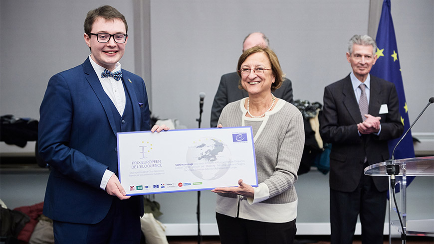 Irish student wins European Eloquence Prize