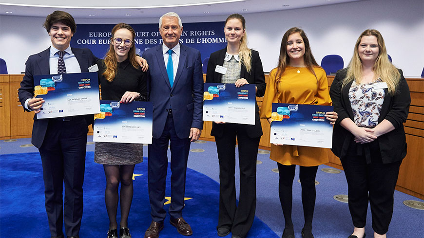 Team from Spanish IE University wins 2018 edition of the European Human Rights Moot Court Competition