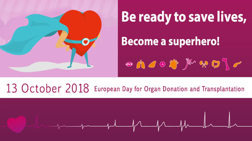 European Day for Organ Donation and Transplantation 2018