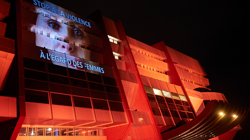 "Council of Europe turns ""orange"" to end violence against women"