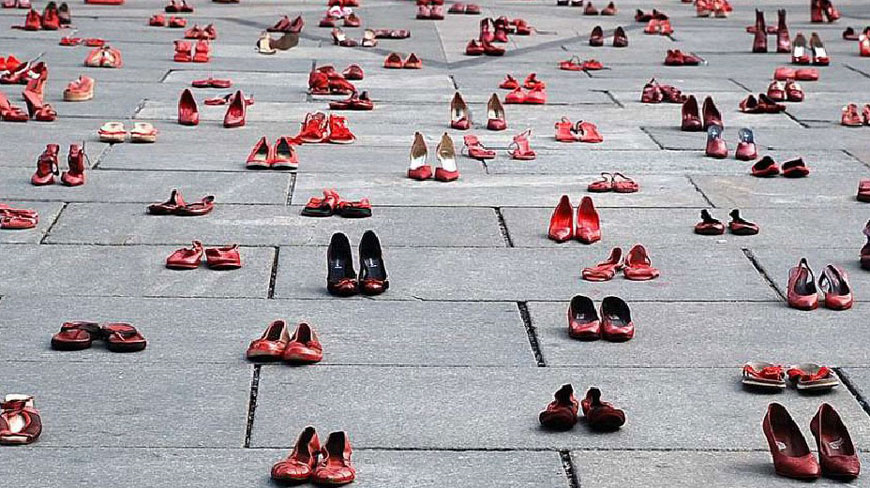 Red shoes became the symbol of November 25th, the International Day for the Elimination of violence against Women