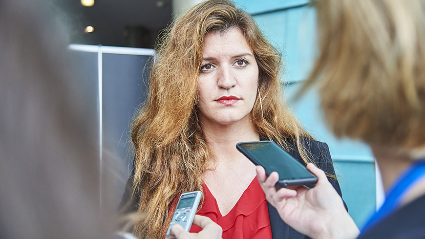 French State Secretary for Gender Equality and the Fight Against Discrimination Marlène Schiappa