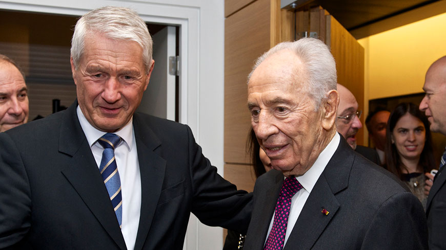 Statement of Secretary General Thorbjørn Jagland on Shimon Peres