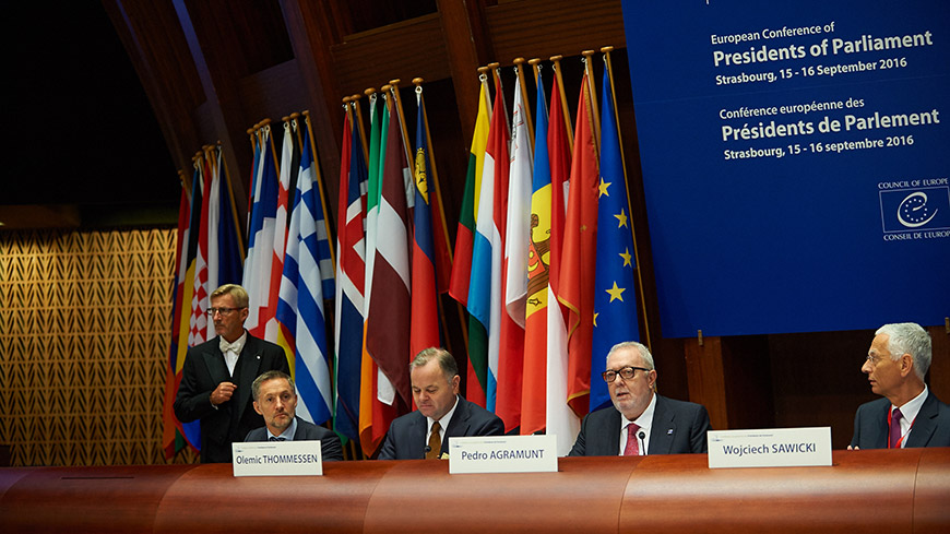 European summit of Presidents and Speakers of parliament opens in Strasbourg