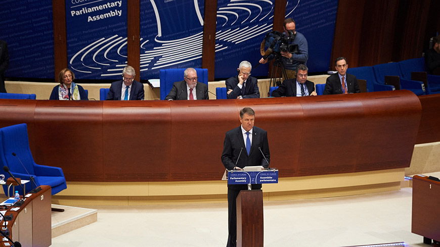 "Klaus Werner Iohannis: ""Euro-phobia is not just against the values of the EU, but those of the CoE too"""