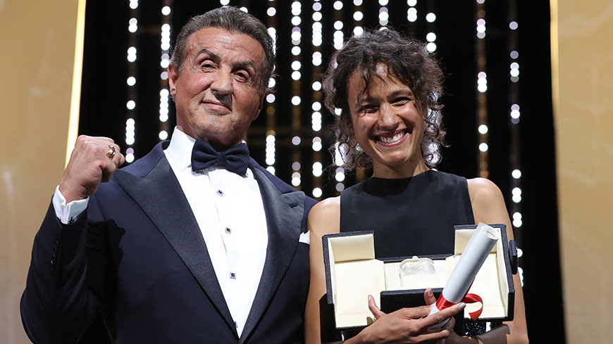 Sylvester Stallone and Mati Diop