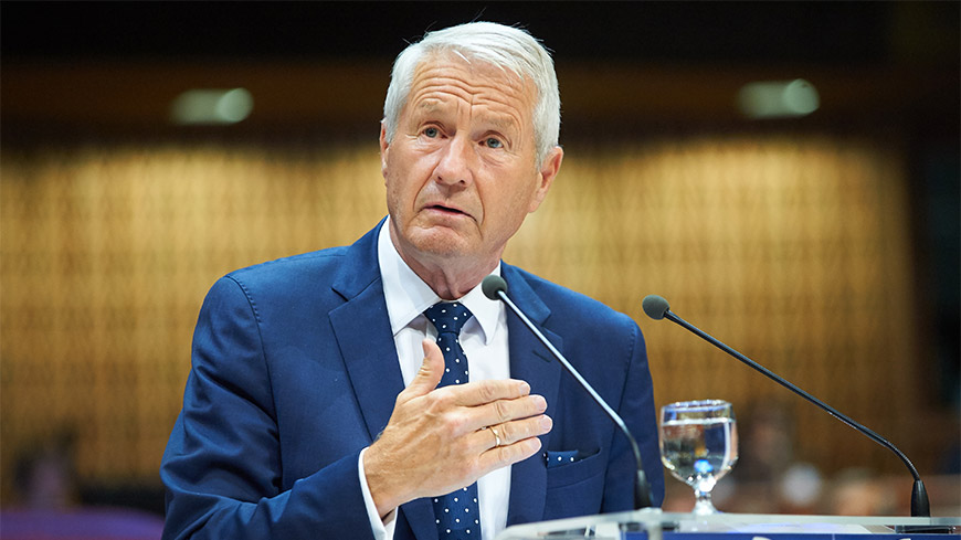 Secretary General Jagland says justice must start to work in Turkey now