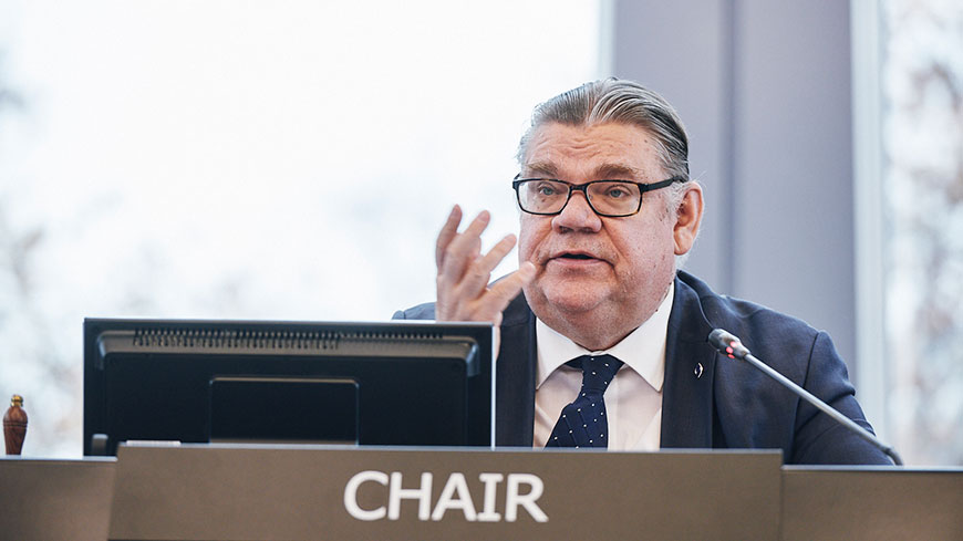 Timo Soini, Minister for Foreign Affairs of Finland and Chair of the Committee of Ministers
