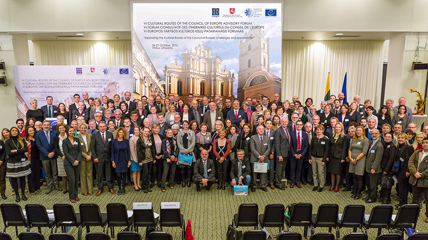 A Europe rich in history, heritage and values: the Cultural Routes Advisory Forum 2016 in Vilnius