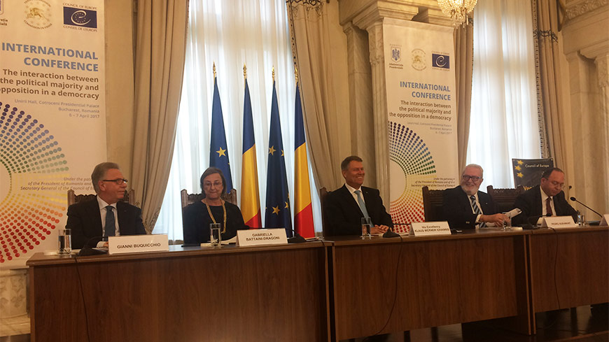"Venice Commission international conference in Bucharest: ""Interaction between political majority and opposition in a democracy"""