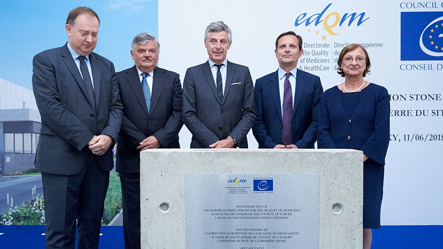 Didier Martin, Prefect of Moselle, Jean-François Schmitt, Mayor of Ars-Laquenexy, Jean-Luc Bohl, President of Metz Métropole, Ambassador Jean-Baptiste Mattei, Permanent Representative of France to the Council of Europe, Gabriella Battaini-Dragoni, Deputy Secretary General of the Council of Europe